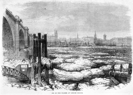 'Ice in the Thames at London Bridge', 1870.