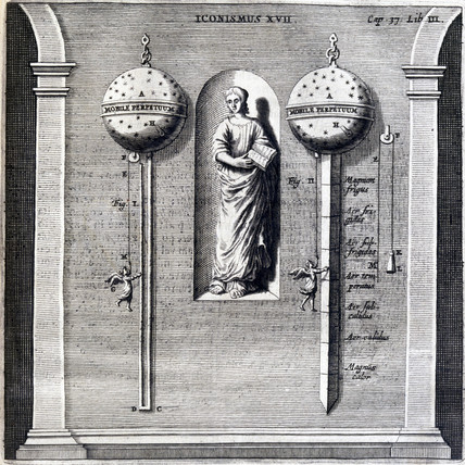 Guericke's air thermometer, 1672.