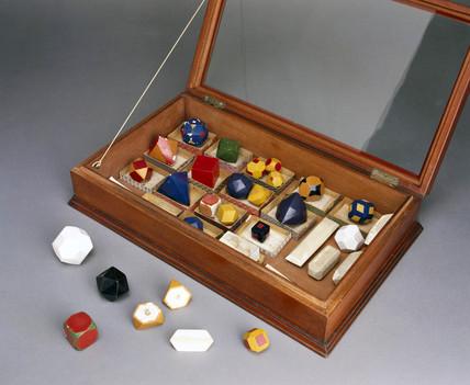 Set of chalk crystal models, c 1930s.