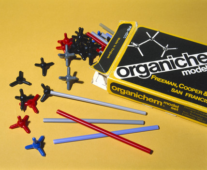 Skeletal type molecular models, late 20th century.
