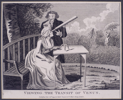 'Viewing the Transit of Venus', c 1760s.