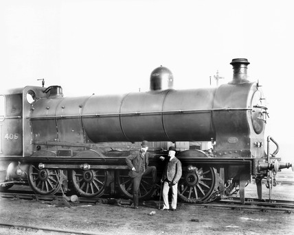 Henry Alfred Ivatt and Archibald Sturrock, locomotive designer and maker, 1903.