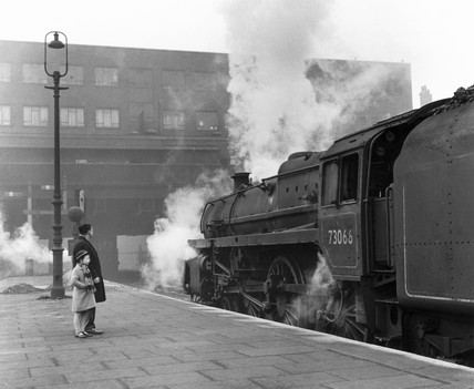 An expres leaving Victoria Station, Nottingham, 2 February 1963.