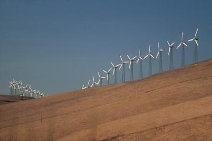 Wind turbines, Altamont, USA, 1997.