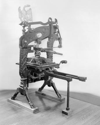 Columbian printing pres, 1837.
