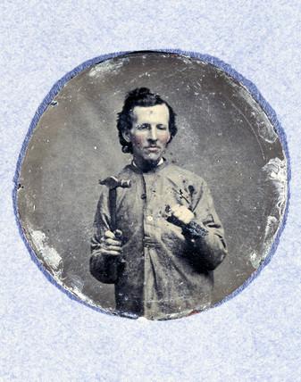 Miniature portrait of a man, c 1875. This