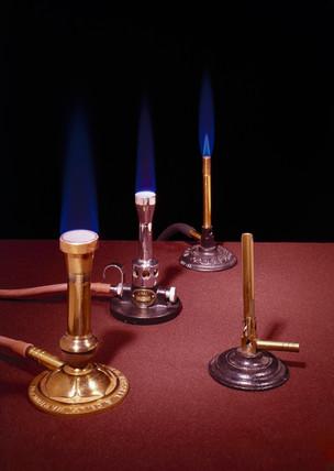 Various Bunsen burners, 1855-1910.