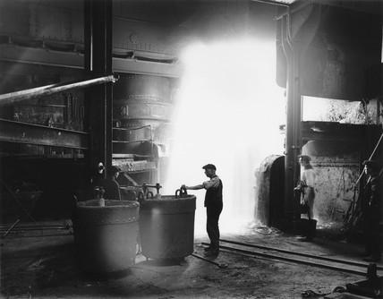Steel foundry, 1919.
