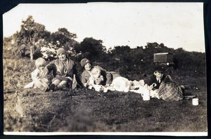 Arthur C Clarke on a family picnic, c 1928.