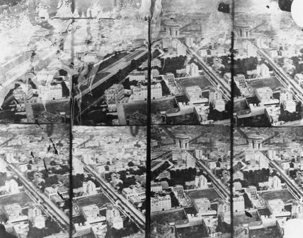 Eight aerial views of the Arc de Triomphe, Paris, c 1860s.