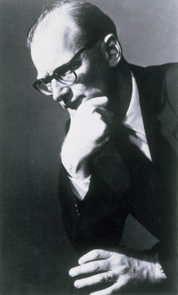 Arthur C Clarke, British science fiction author and inventor, 1950s.