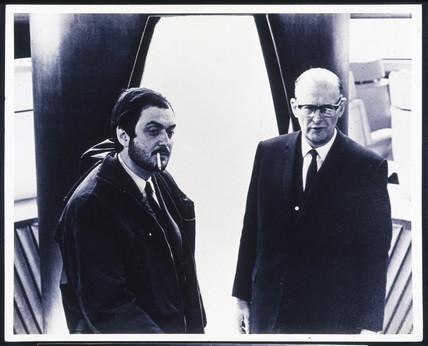 Arthur C Clarke with Stanley Kubrick.