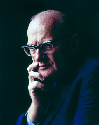 Arthur C Clarke, British science fiction author and inventor, c 1970s.