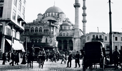 A mosque in Istanbul, Turkey, c 1910s.