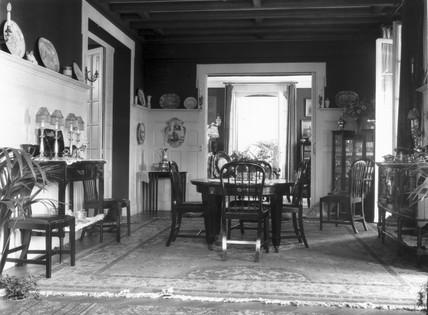 Edwardian dining room, c 1900s.