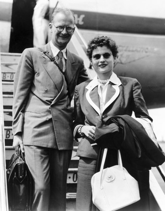 Arthur C Clarke with his wife Marilyn.