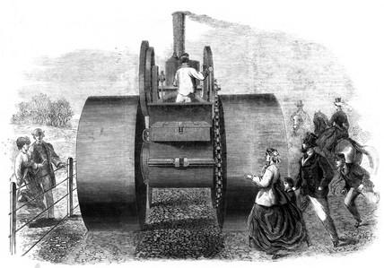 Steamroller, 1866.