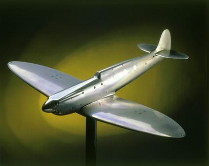 Wind tunnel model of Spitfire Mark I, 1941.