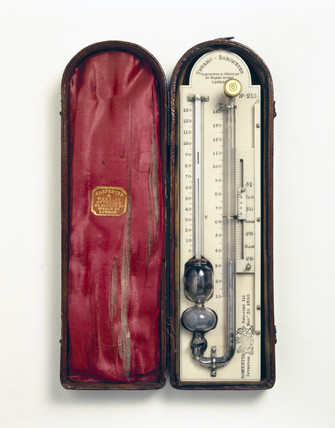 Ronketti's sympiesometer, or air barometer, 1839.