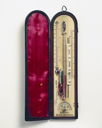 Sympiesometer, or air barometer, 1845-1851.