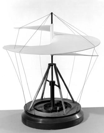 Leonardo da Vinci helicopter, late 15th century.