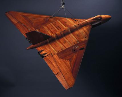 Low speed wind tunnel model of the Avro Vulcan, 1950s.
