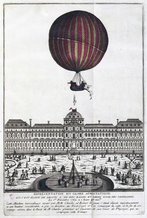 'The aerostatic Globe', 1 December 1783.