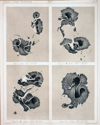 Four views of Sunspots, 1872.