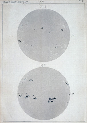 Two views of the Sun, 1872.