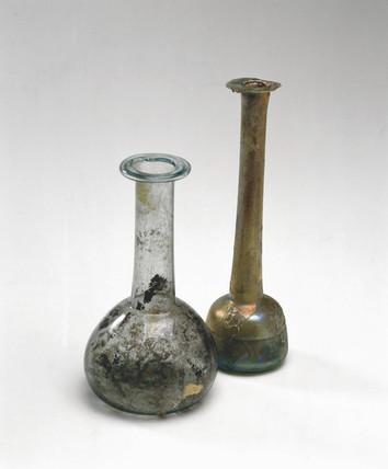 Roman glas bottles, 2-3 AD.