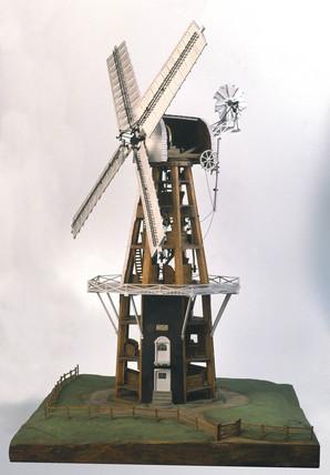 Smock windmill, c 1840.