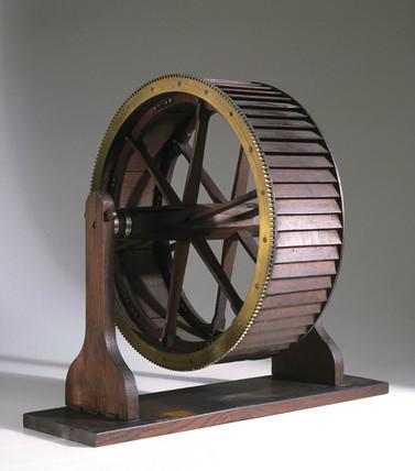 Overshot waterwheel, c 1870.