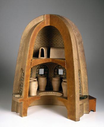 Glasmaking furnace, c 1500.