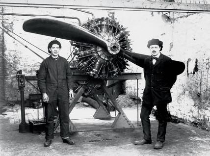 Salmson aero engine, c 1910s.