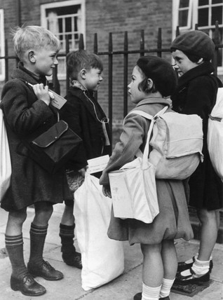 A group of child evacuees, 29 August 1939.
