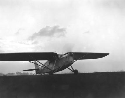 Amy Johnson flying 'Desert Cloud', 8 November 1932.