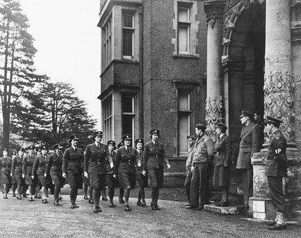 WAAFs on parade, 15 December 1942. 'WAAFs