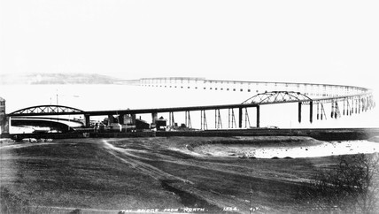 The first Tay Bridge, 1878. View from the n