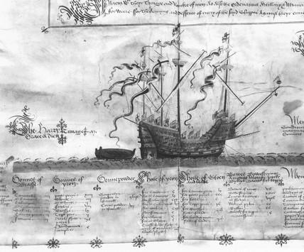 'Henri Grace a Dieu' warship, c 1540s.