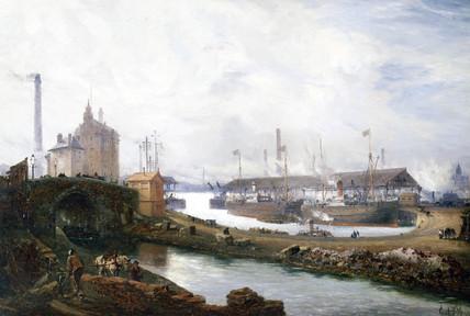 Pomona Docks, Manchester, England, 1894.