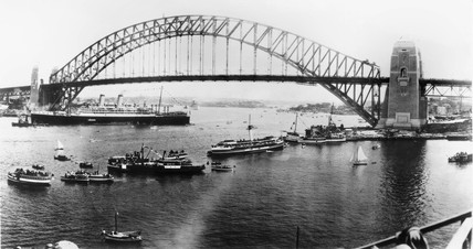 Sydney Harbour Bridge, Australia, 1932.