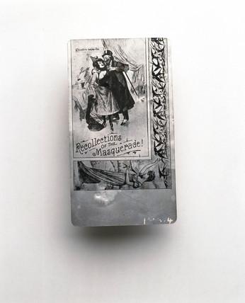 Aluminium picture postcard, c 1900.