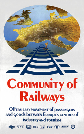 'Community of Railways', BR poster, c 1970s.