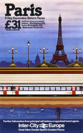 'Paris', BR poster, c 1980s.