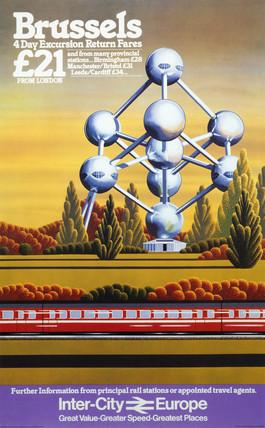 'Brusels', British Rail poster, c 1980s.