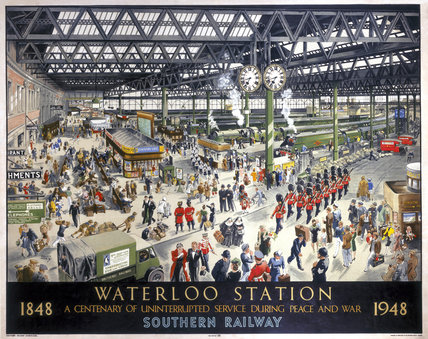 'Waterloo Station', SR poster, 1948.