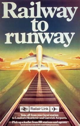 'Railway to Runway', BR poster, 1982.