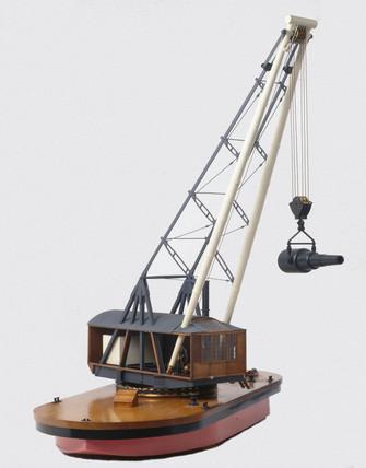 Hunter's patent floating crane, 1886.