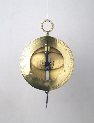 Circular spring balance, 18th century.