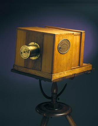 Giroux's original daguerreotype camera, 1839.